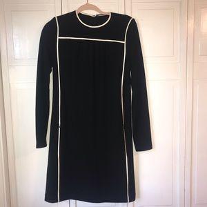 Elie Tahari Black Wool Long Sleeve Dress, size S
